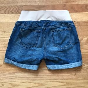 Old Navy Shorts - Distressed Maternity Denim Shorts